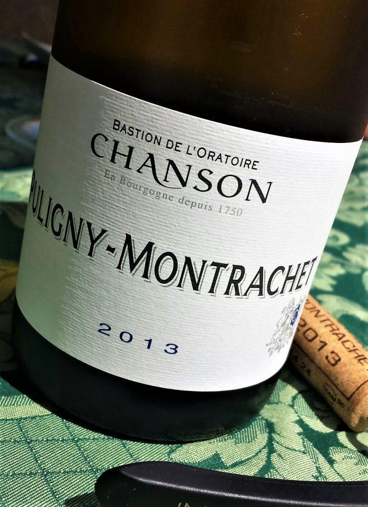 AOC Puligny-Montrachet 2013, Chanson