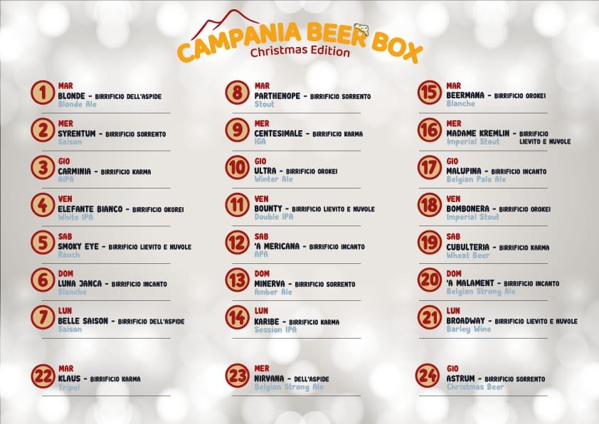 Calendario Campania Beer Box