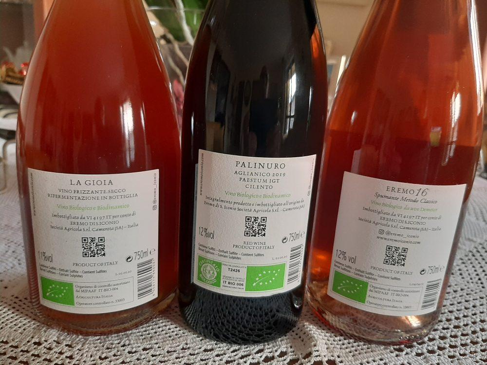 Controetichette vini Eremo di S.Iconio