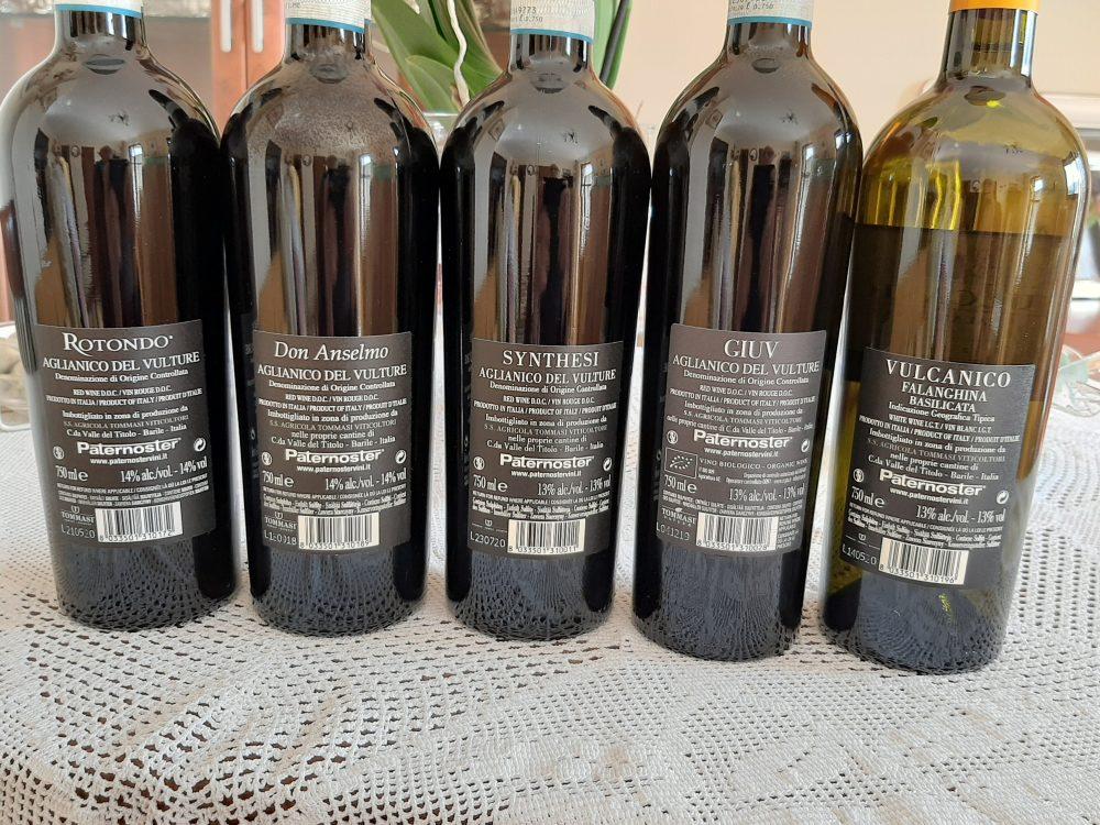 Controetichette vini Paternoster