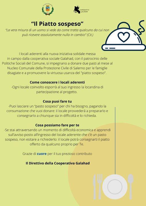 Iniziativa di beneficenza a Salerno - locandina