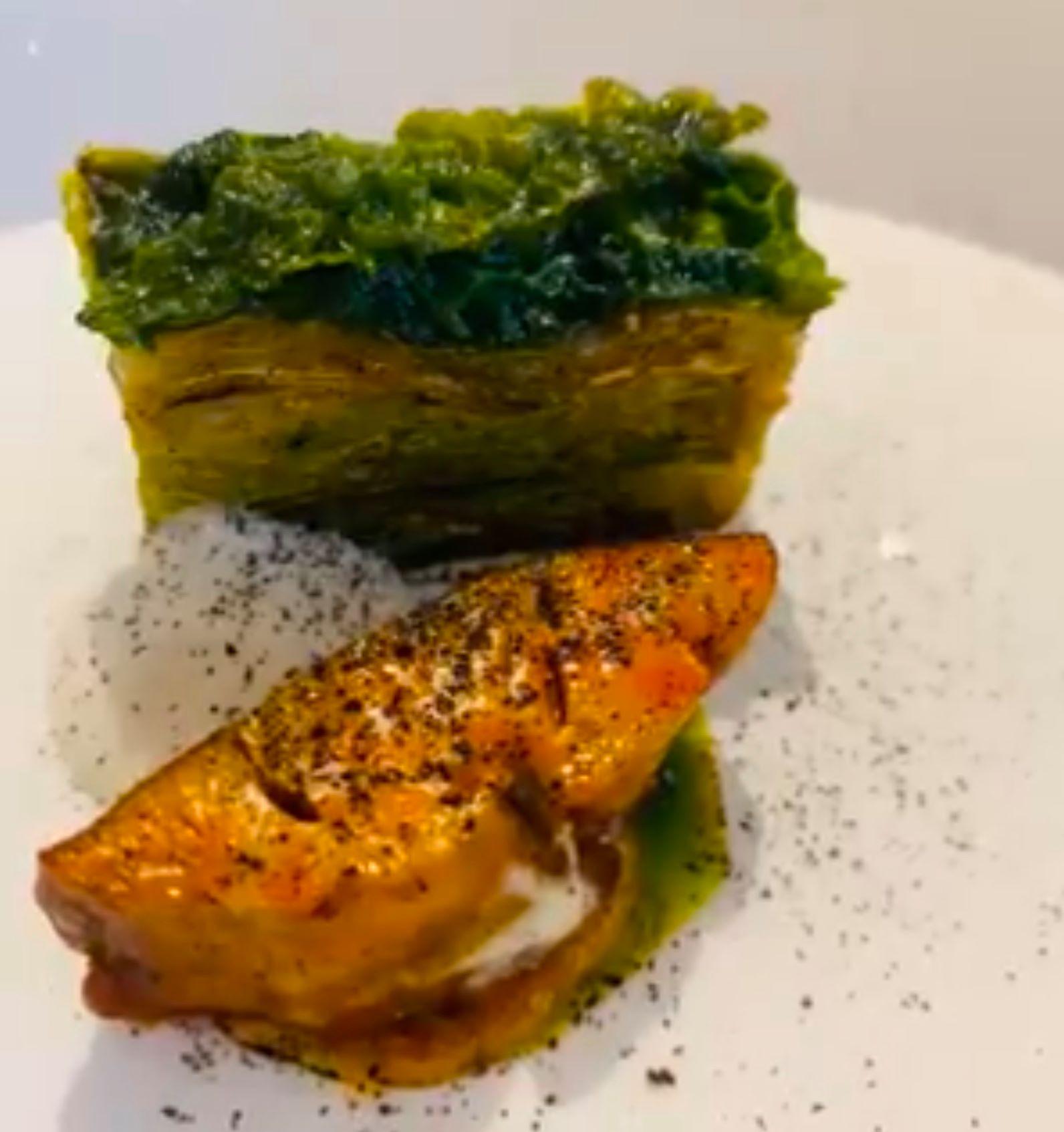 Pascucci al Porticciolo, Foie gras di mare e verza