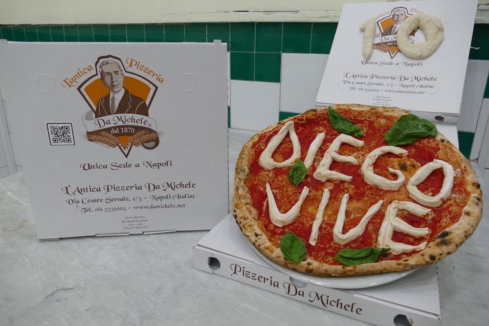 L'antica pizzeria da Michele QRcode e Pizza Maradona