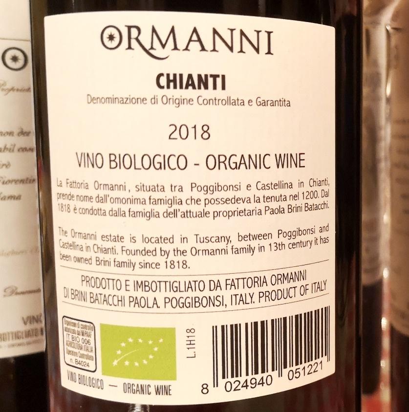 Chianti 2018 Ormanni