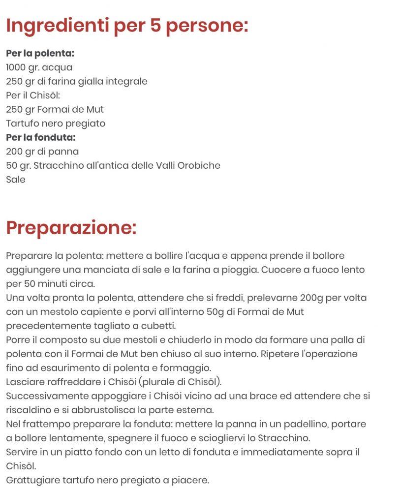 Chisol - Ricetta