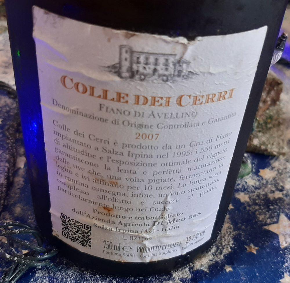 Controetichetta Colle dei Cerri Fiano di Avellino Docg 2007 Di Meo