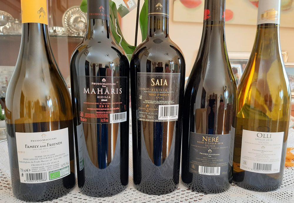 Controetichette vini Feudo Maccari