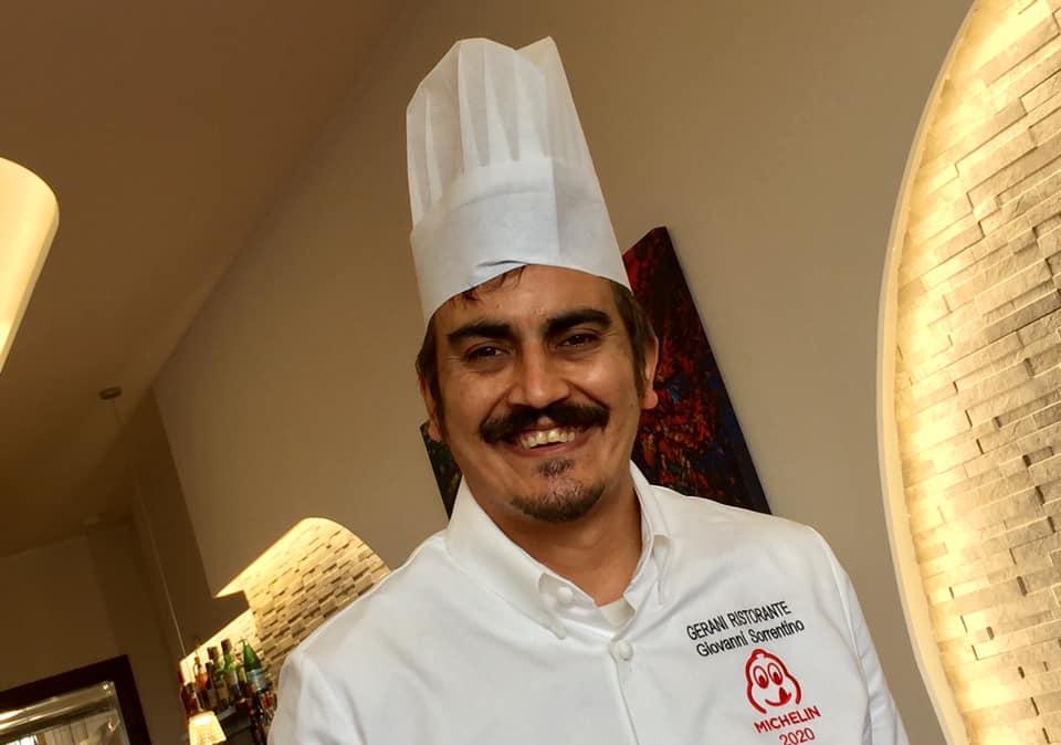 Ristorante Gerani, lo chef Giovanni Sorrentino