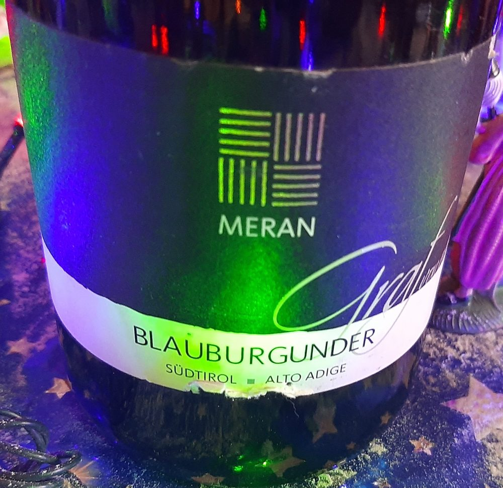 Blauburgunder Pinot Nero Sud Tirolo Alto Adige Doc 2012 Meran