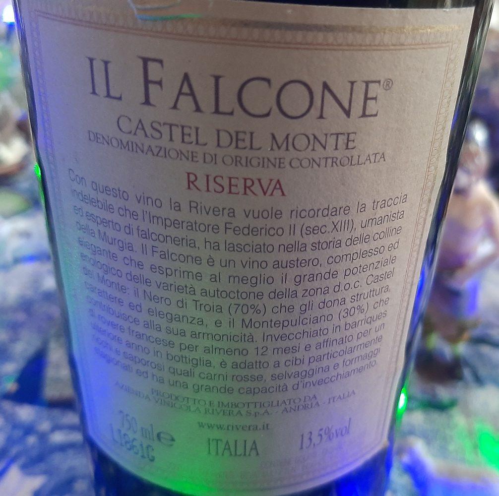Controetichetta Il Falcone Castel del Monte Doc 2005 Rivera
