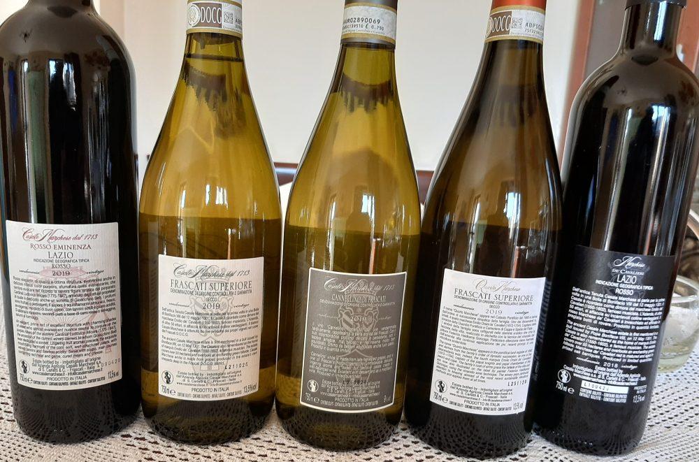 Controetichette vini Casale Marchese