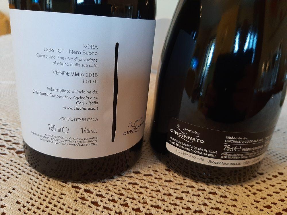 Controetichette vini Cooperativa Agricola Cincinnato