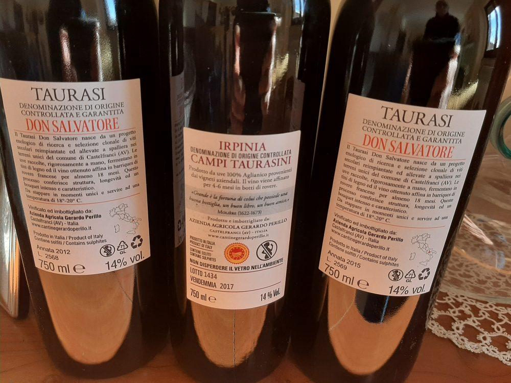 Controetichette vini Gerardo Perillo
