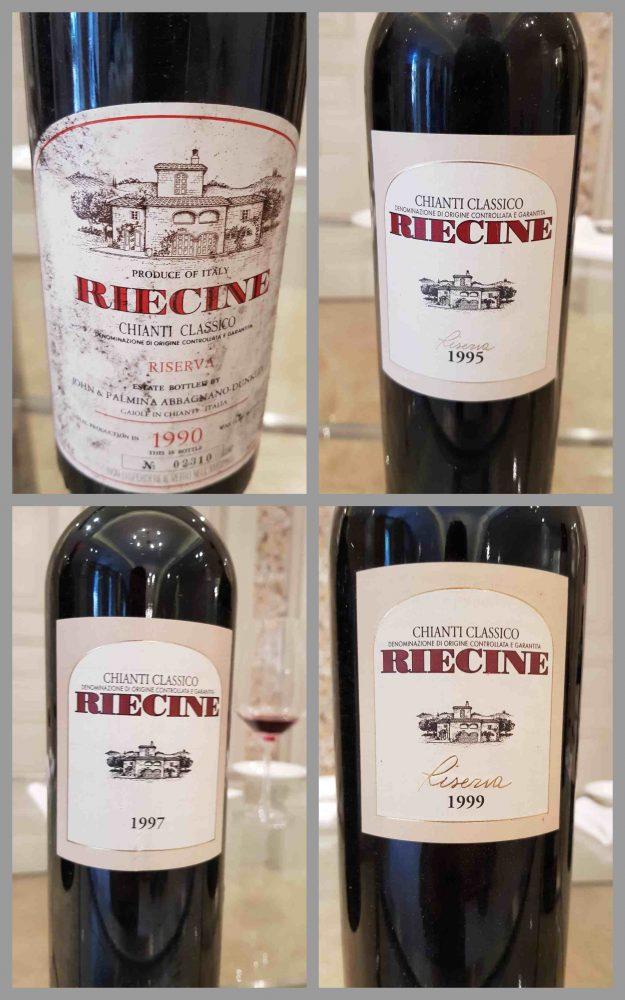 Riecine - chianti classico riserva '90 '95 '97 '99