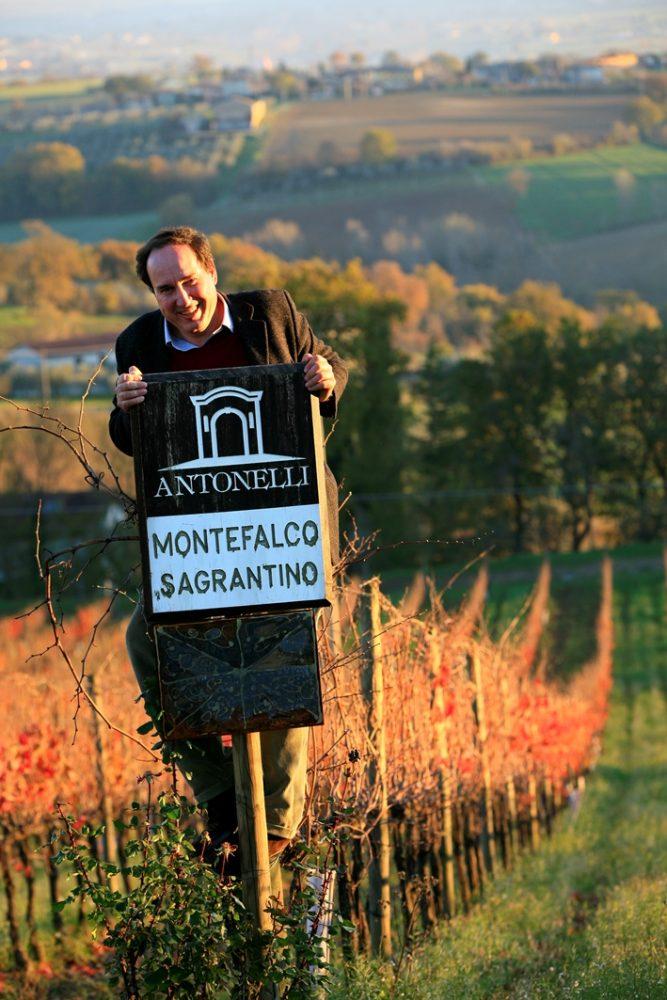 Il produttore di Sagrantino Filippo Antonelli proprietario della cantina Antonelli San Marco