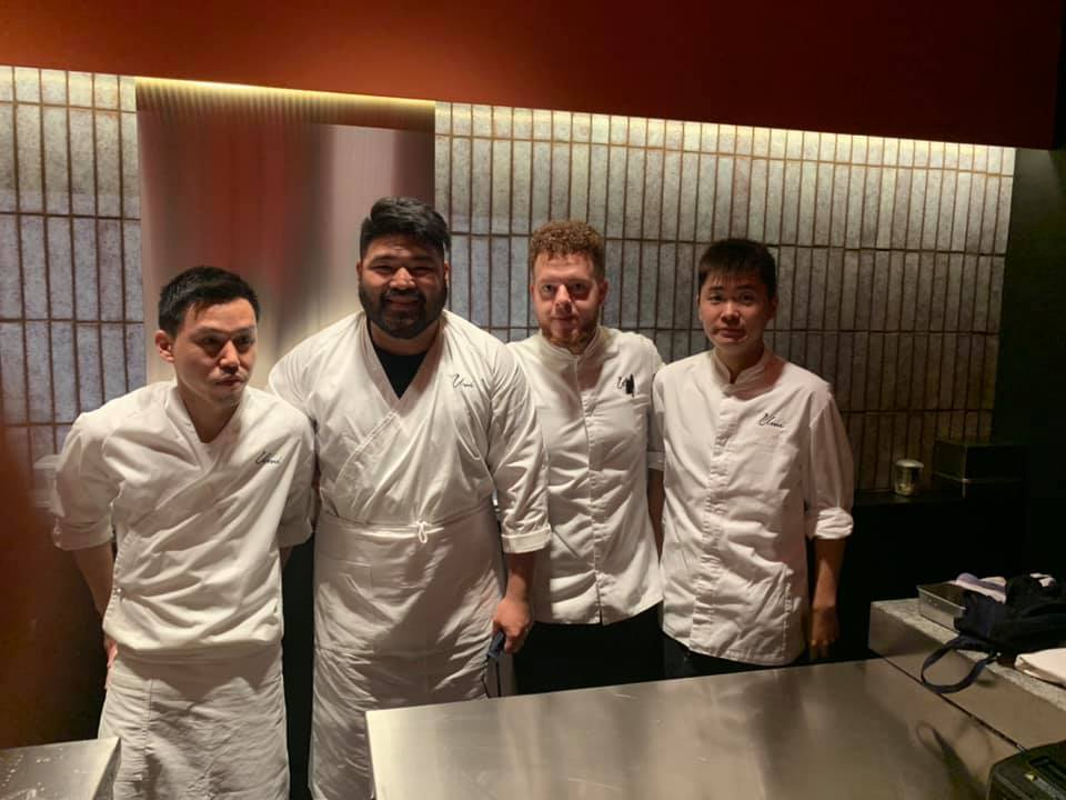 Ristorante Umi - Chef, Jun Inazawa Sushiman, Jed Riel Cidro. In cucina - Antonia Morra e Yuki ikegami