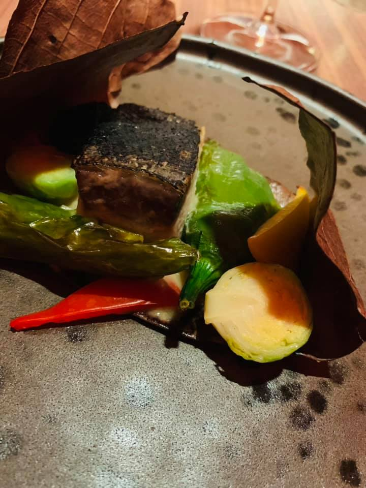 Ristorante Umi - HIRAMASA SAIKYOU HOBA YAKI ricciola marinata al miso verdurine su hoba ai carboni