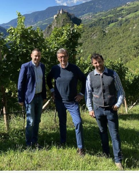 Armin Gratl, Riccardo Cotarella e Hannes Munter