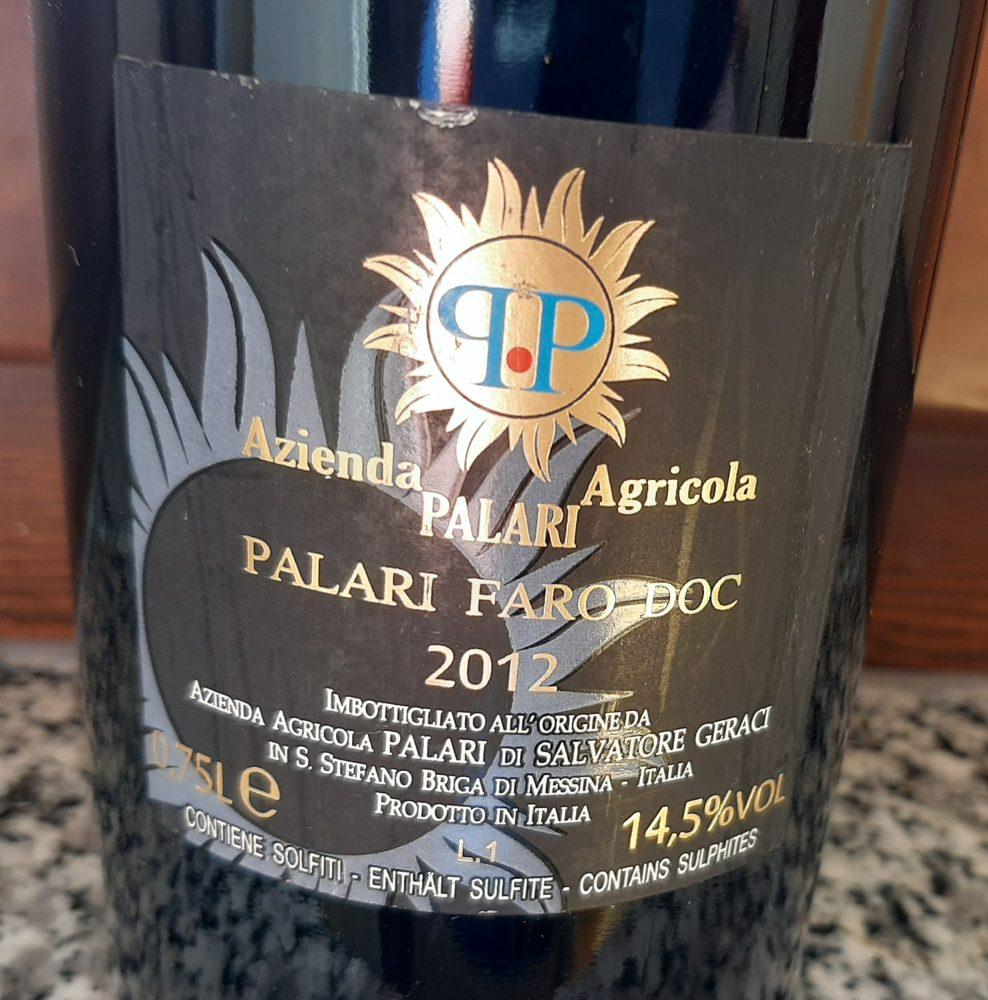 Controetichetta Faro Palari Doc 2012 Azienda Palari