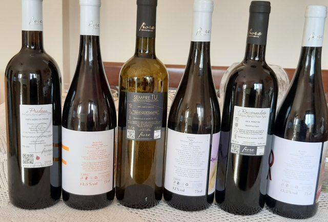 Controetichette vini Cantine Fiore