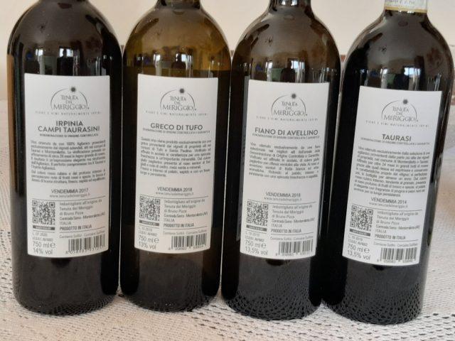 Controetichette vini Tenuta del Meriggio