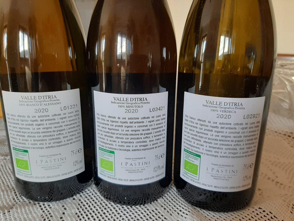 Controetichette vini azienda I Pastini