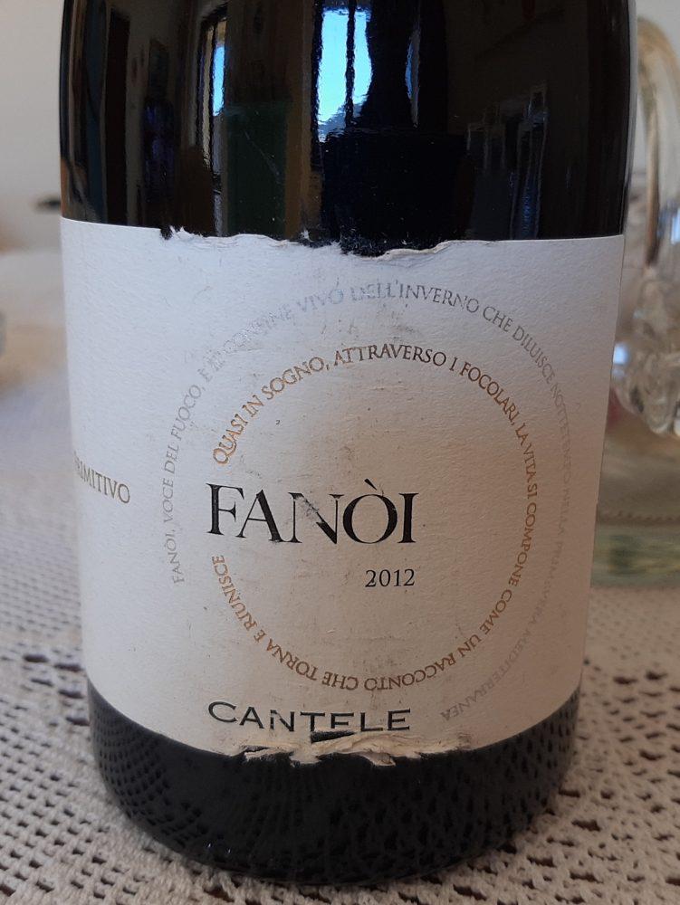 Fanoi Primitivo Salento Igt 2012 Cantele
