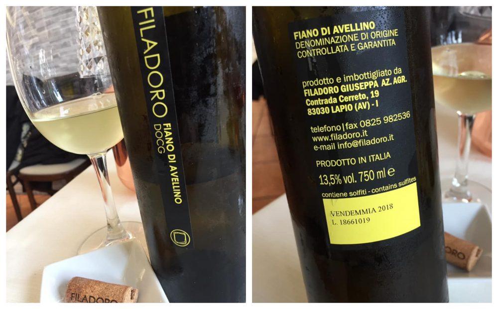 Fiano di Avellino Filadoro 2018