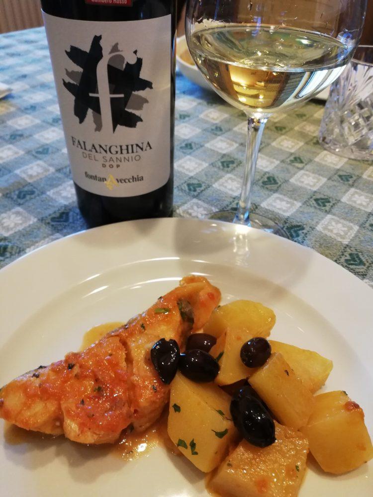 Falanghina 2019 Fontanavecchia - Abbianamento con seconda portata di pesce