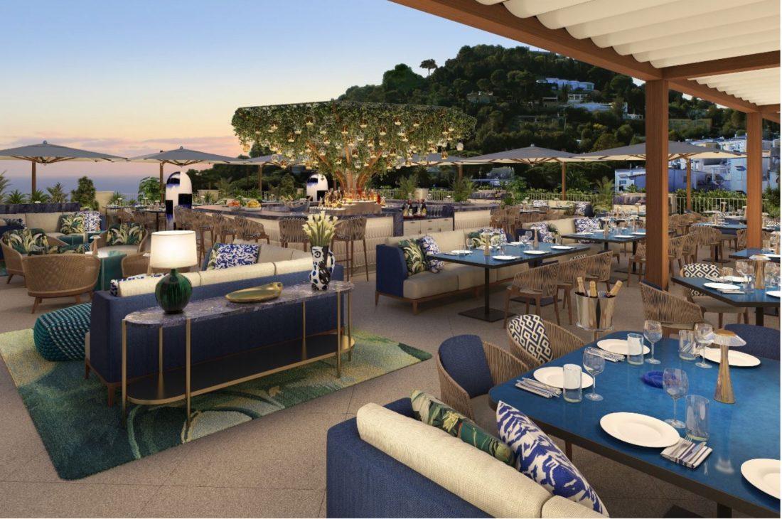 Hotel La Palma Capri, il ristorante Bianca