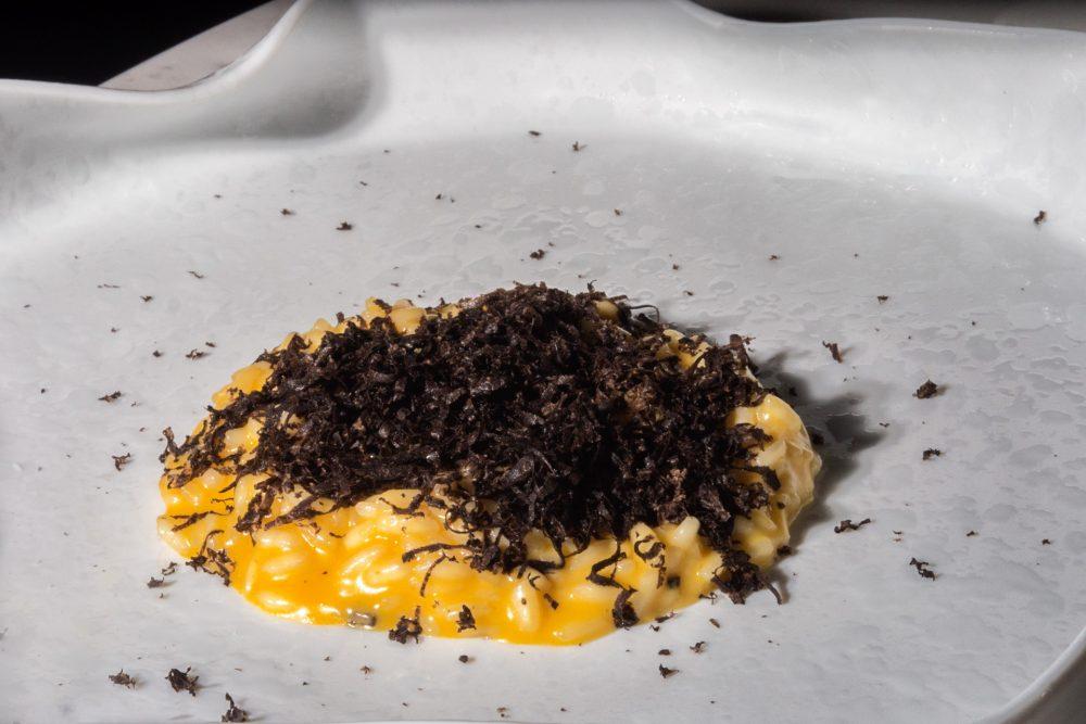 I Portici - Riso Acquerello con Tartufo nero, zucca e anice verde di Castignano
