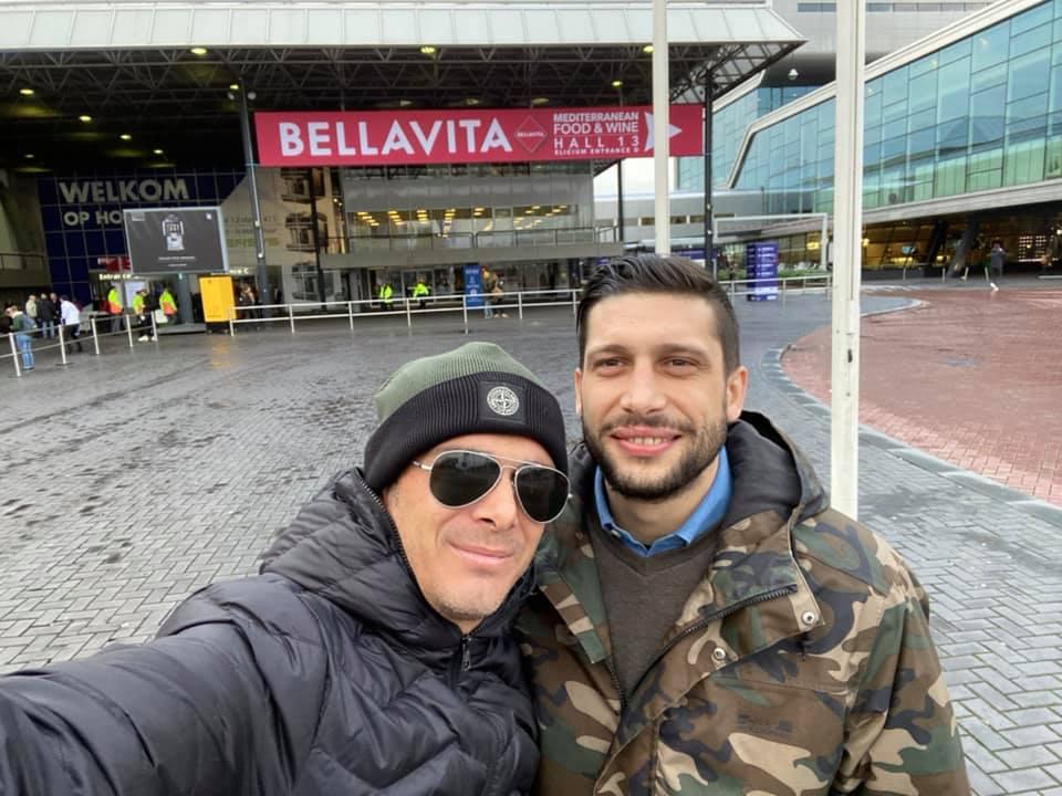 Luciano con Paolo Ruggiero