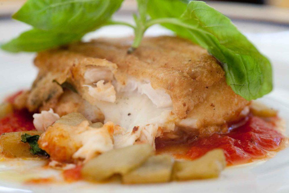 Parmigiana di pesce bandiera Gennaro Esposito foto Scatti di Gusto