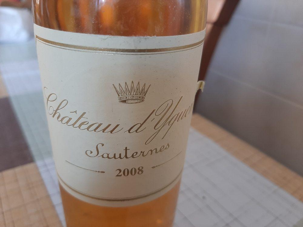 Sauternes Chateau d'Yquem 2008