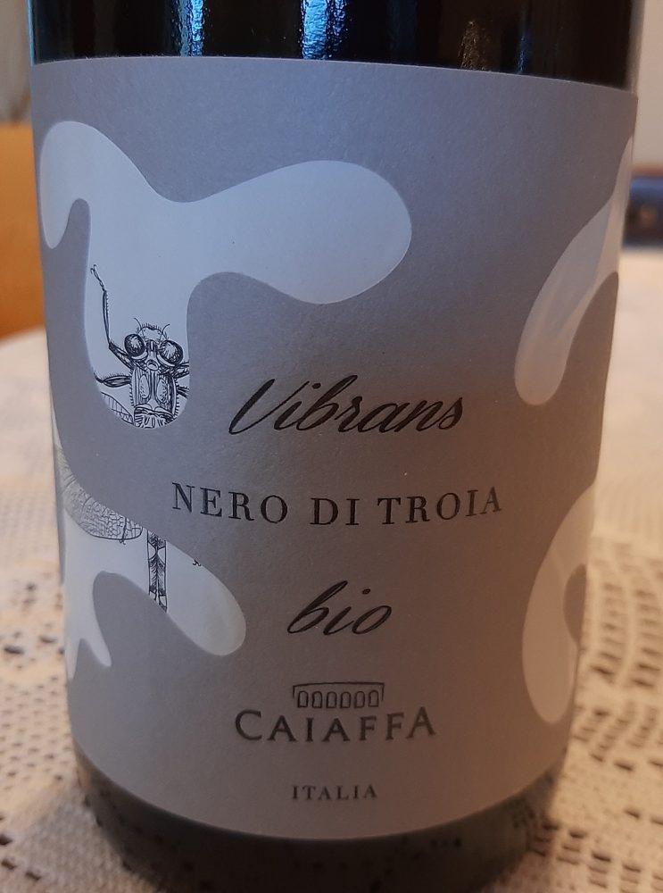 Vibrans Nero di Troia Vino Bio Puglia Igt 2017 Caiaffa
