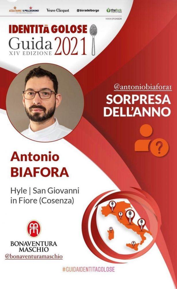 Antonio Biafora guida 2021 Identita' golose
