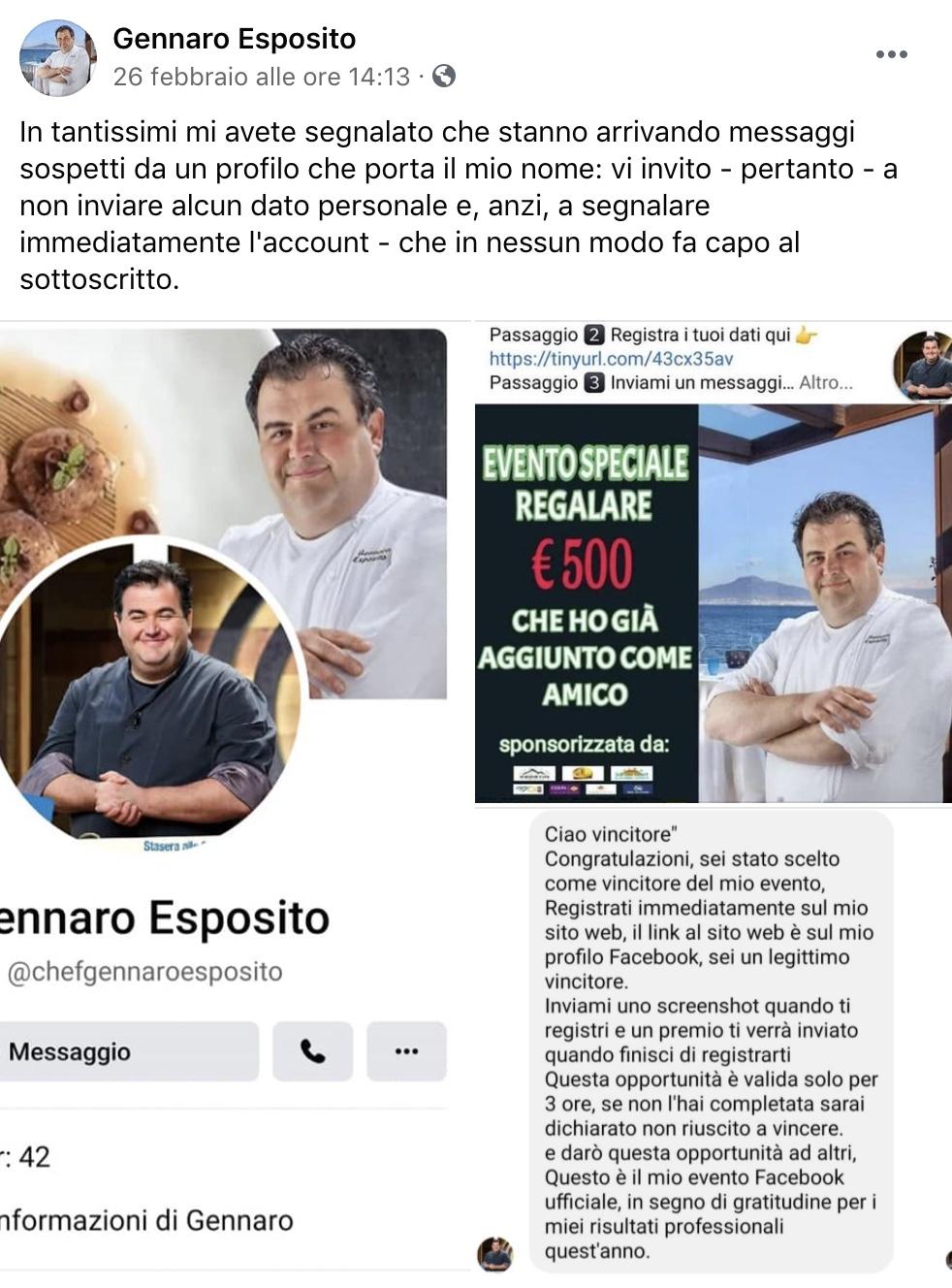 Chef Gennaro Esposito