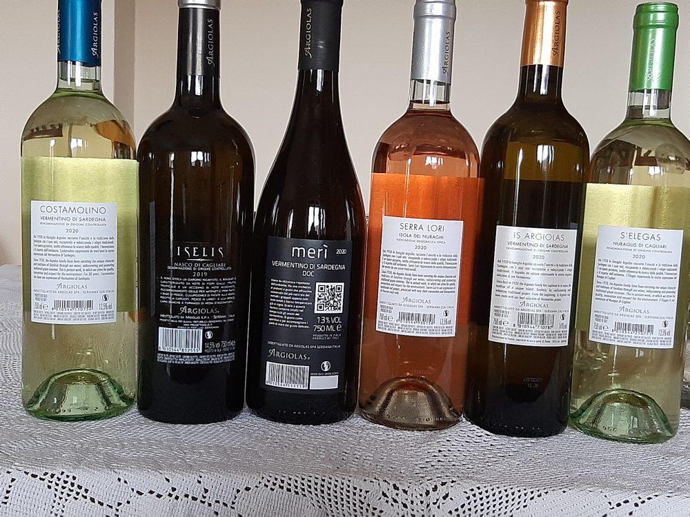 Controetichette vini Argiolas