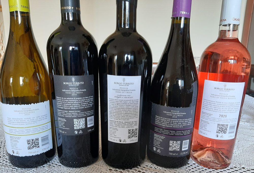 Controetichette vini Borgo Turrito