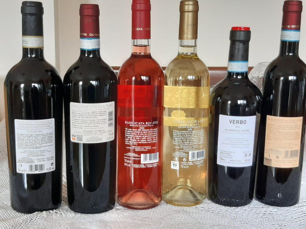 Controetichette vini Cantina di Venosa