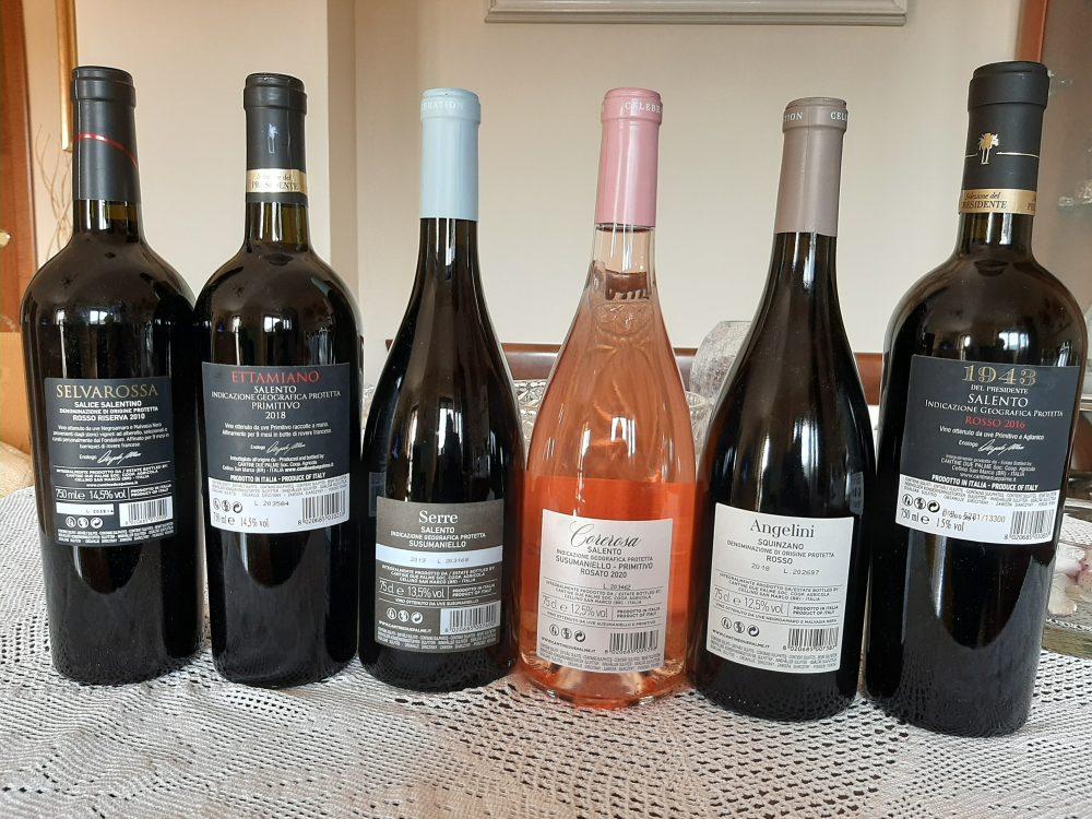 Controetichette vini Due Palme