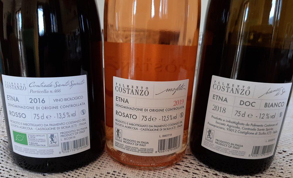 Controetichette vini Palmento Costanzo