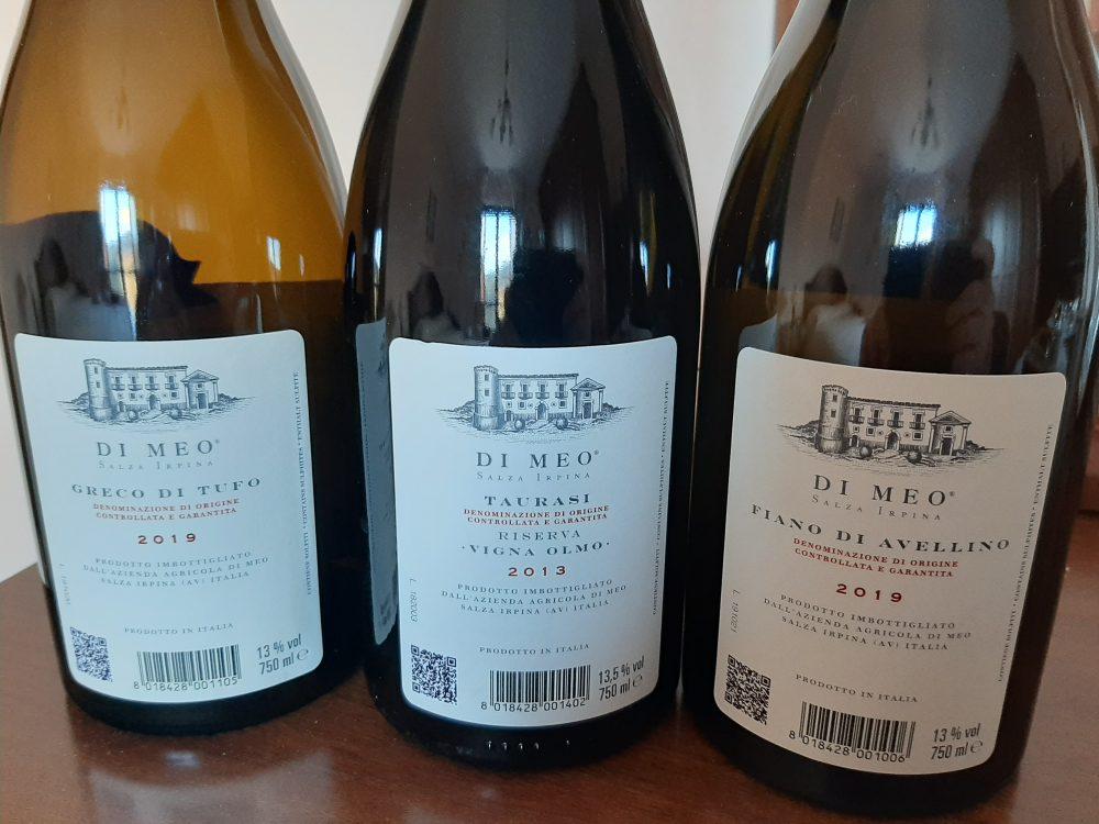 Controetichette vini azienda Di Meo