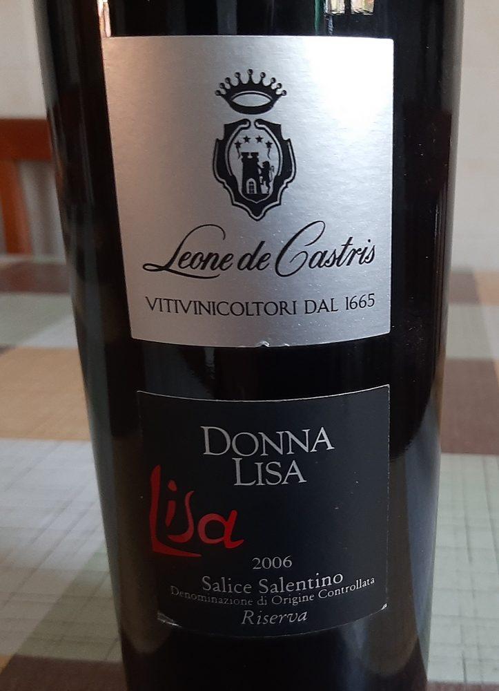 Donna Lisa Salice Salentino Riserva Doc 2006 Leone De Castris