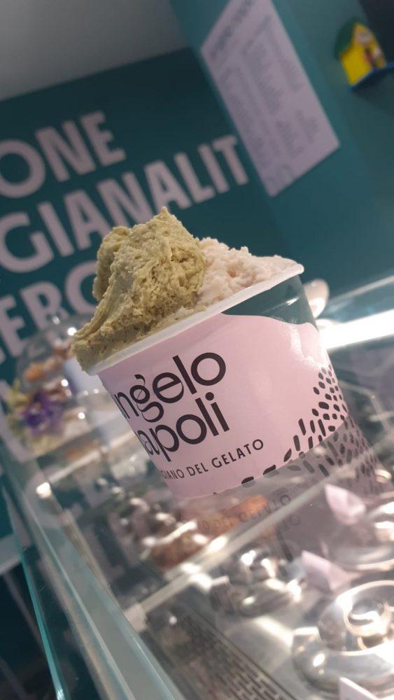Gelateria Angelo Napoli - coppetta pistacchio