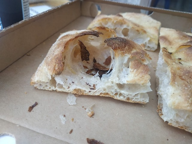 La pizza bianca di Bonci