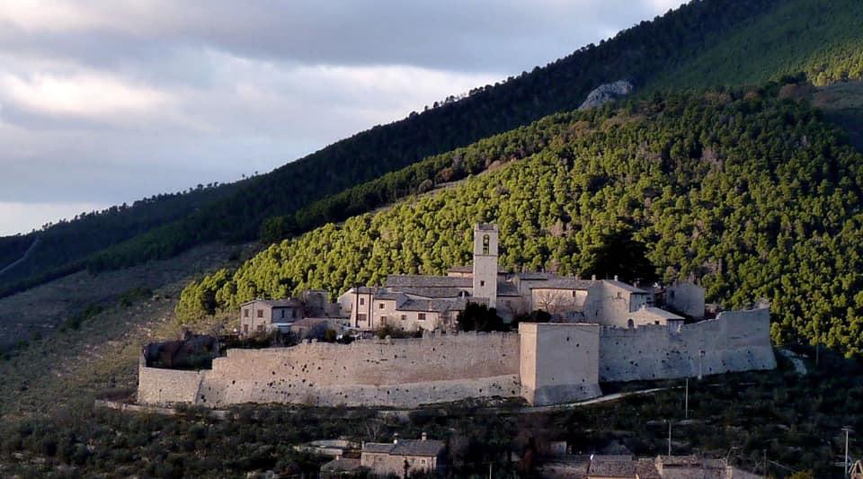 Paesaggio olivato intorno al Castello di Campello sul Clitunno - Umbria