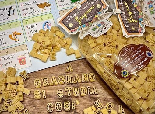 Alfabeto fabbrica della pasta di Gragnano