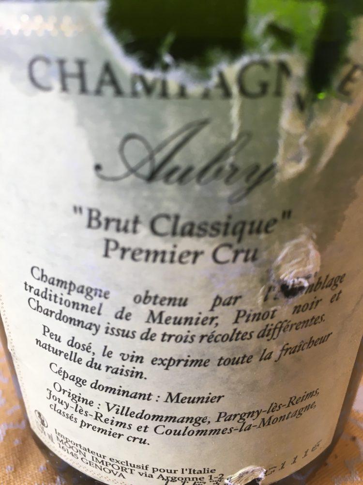 Champagne Aubry - controetichetta