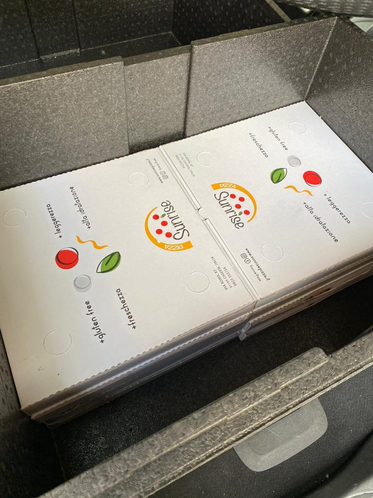 Contenitori termici - Pizzeria Sunrise